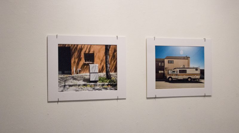 Images from photography student Erhan Erdem's photo exhibit Here , for Now  showcase abandoned furniture and RV's  temporarily parked on the sidewalks of San Francisco. The photo exhibit will be open to the public  through Oct. 29, 2018 at the photography department. Photo by Peter J. Suter/The Guardsman