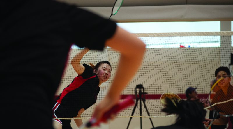 City College Rams Women's Badminton team plays with heart