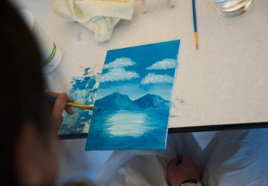 The Joy of Painting and Culinary Art; Students host Bob Ross themed event